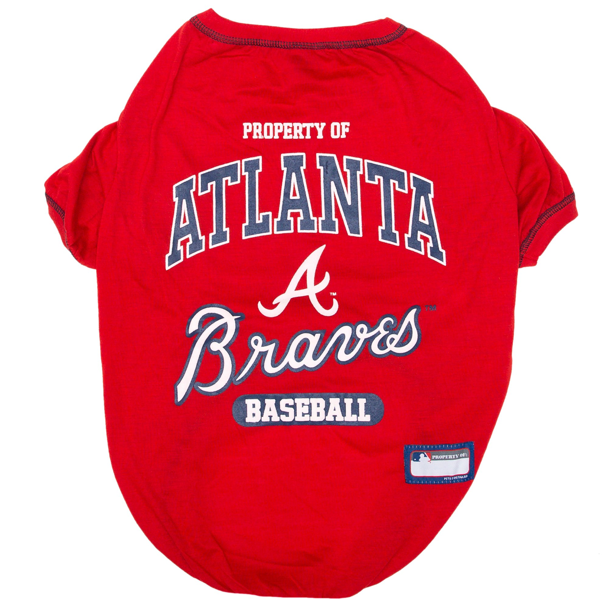 Image of Pets First Atlanta Braves T-Shirt, X-Large, Red