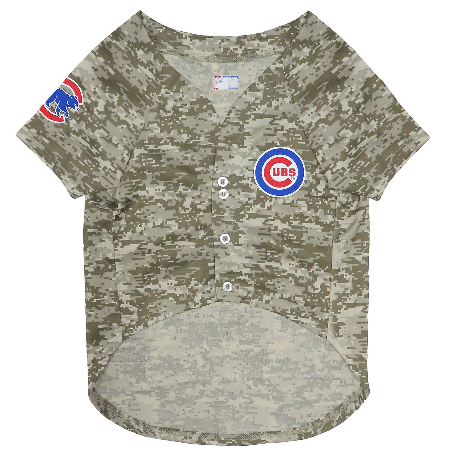 Pets First Chicago Cubs Camo Jersey, Small, Green