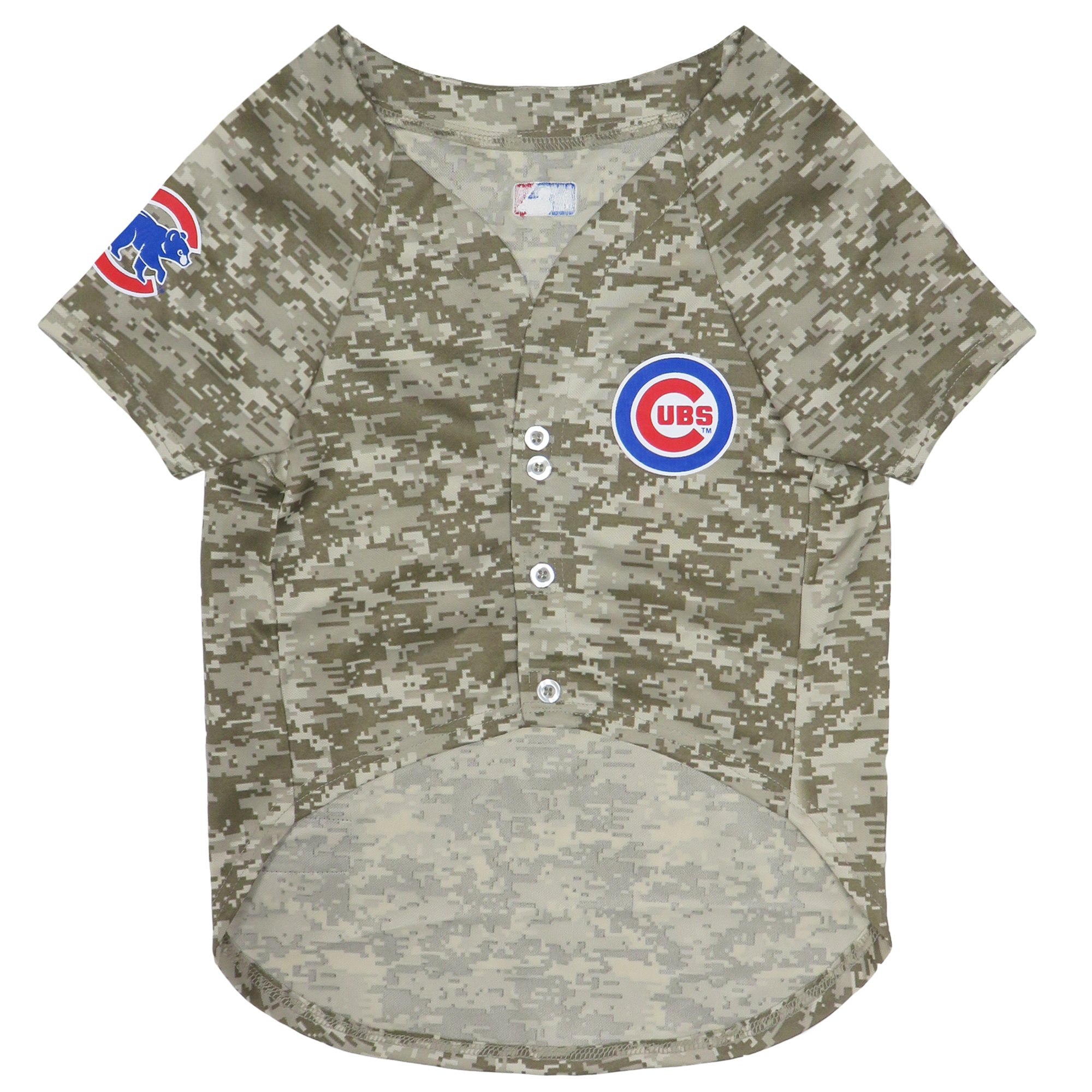 Image of Pets First Chicago Cubs Camo Jersey, Large, Green
