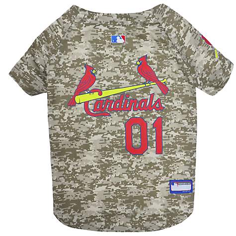detailed look cf157 278d4 Pets First St. Louis Cardinals Camo Jersey, X-Small