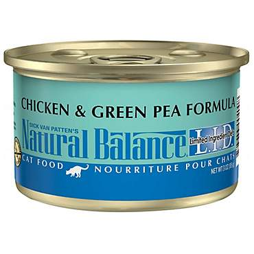 Natural Balance L.I.D. Limited Ingredient Diets Chicken & Green Pea Wet Cat Food