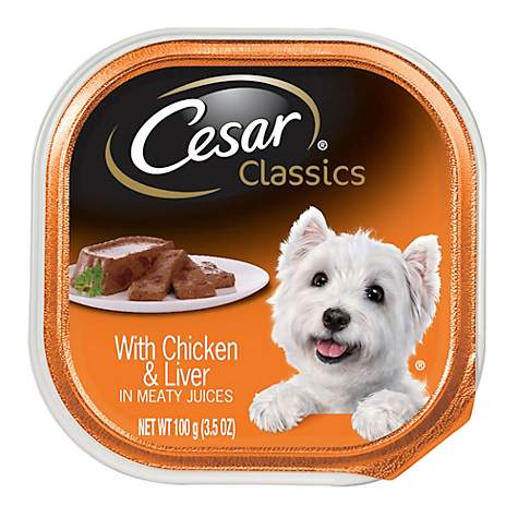 Cesar Canine Cuisine With Chicken and Liver Dog Food Trays