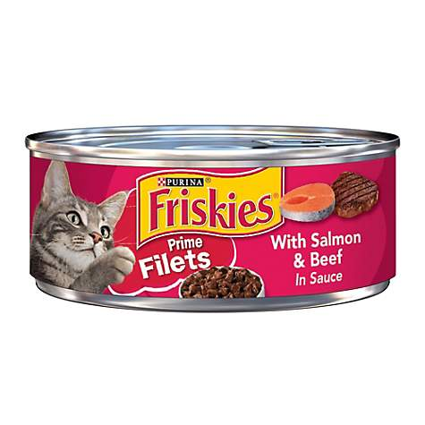Friskies Prime Filets Salmon & Beef Canned Cat Food in Sauce