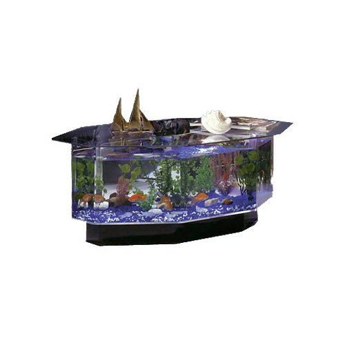 Midwest tropical aquatable aquarium octagon petco - Coffee table aquarium for sale ...
