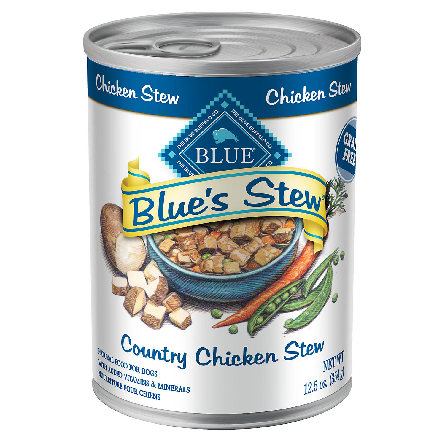 Blue Buffalo Blues Stew Country Chicken Stew Adult Canned Dog Food 12.5 Oz. Case Of 12