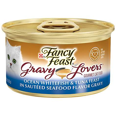 Fancy Feast Gravy Lovers Gourmet Canned Cat Food, Ocean Whitefish & Tuna