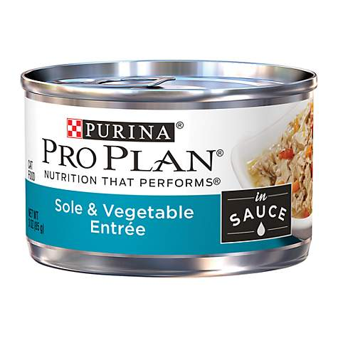 Pro Plan Savor Sole & Vegetable Adult Canned Cat Food in Sauce