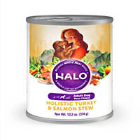 Halo Spot's Stew Succulent Salmon Recipe Canned Dog Food