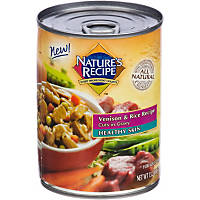 Nature's Recipe Healthy Skin Venison & Rice Cuts in Gravy Adult Canned Dog Food