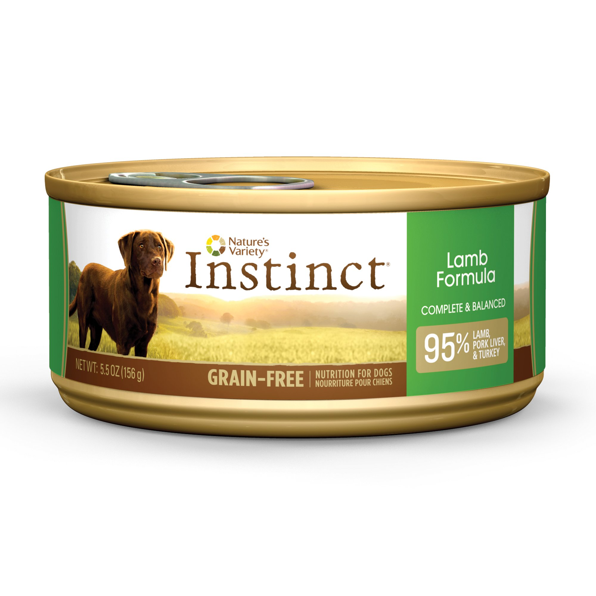 Nature's Variety Instinct Grain-Free Canned Dog Food, Lamb