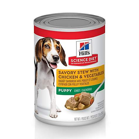 Hill's Science Diet Puppy Savory Stew with Chicken & Vegetables Canned Wet Food