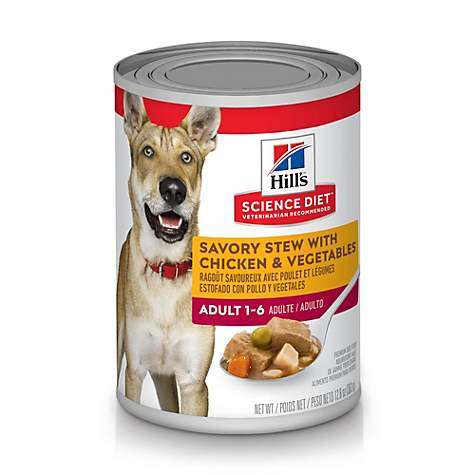 Hill's Science Diet Adult Savory Stew with Chicken & Vegetables Canned Dog Food