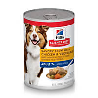 Hill's Science Diet Savory Stew with Chicken & Vegetables Mature Adult Canned Dog Food