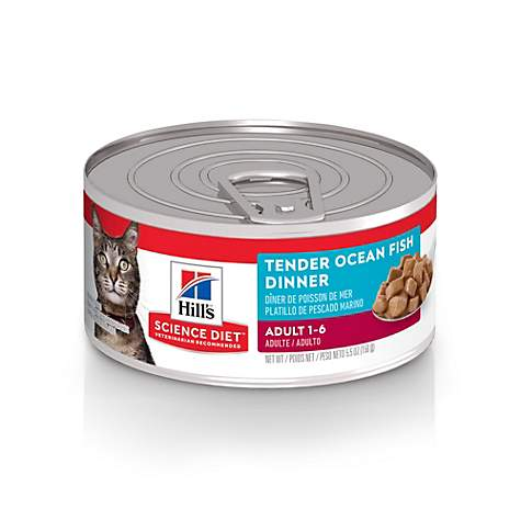 Hill's Science Diet Tender Ocean Fish Dinner Adult Canned Cat Food