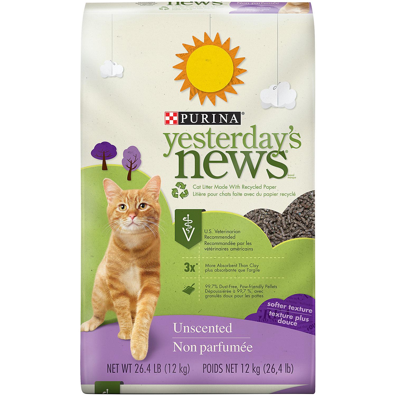 Purina Yesterdays News Softer Paper Pellet Unscented Cat Litter