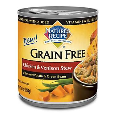 Nature's Recipe Grain Free Chicken & Venison Stew Canned Dog Food