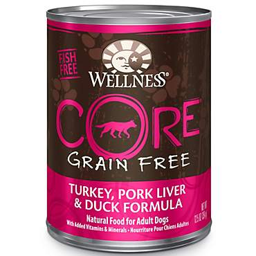 Wellness CORE Natural Grain Free Pork Liver and Duck Recipe Wet Dog Food