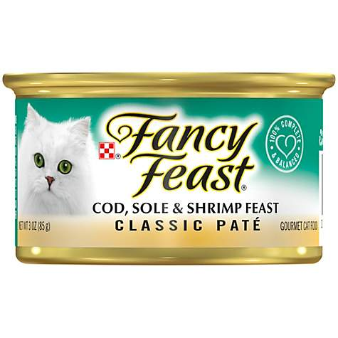 Purina Fancy Feast Classic Cod, Sole & Shrimp Feast Wet Cat Food