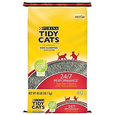 Purina Tidy Cats 24/7 Performance Non-Clumping Clay Litter for Multiple Cats