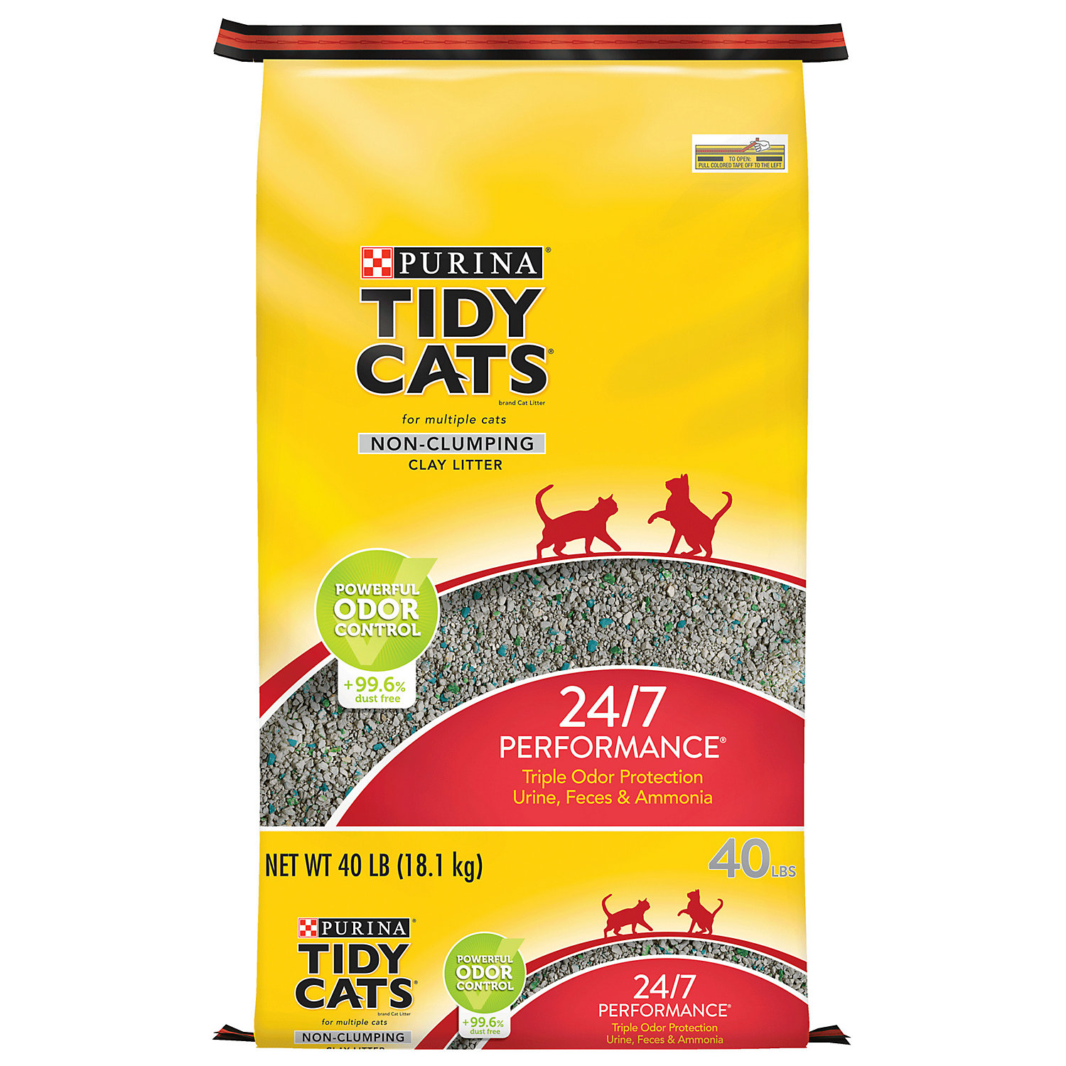 Purina Tidy Cats Non Clumping Cat Litter 24/7 Performance For Multiple Cats