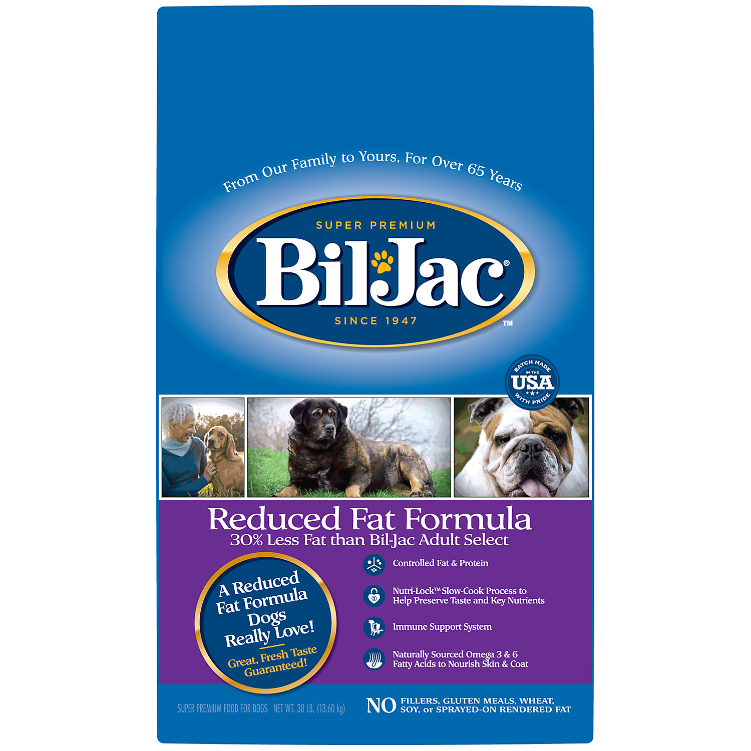 Bil Jac Reduced Fat Adult Dry Dog Food 30 Lbs.