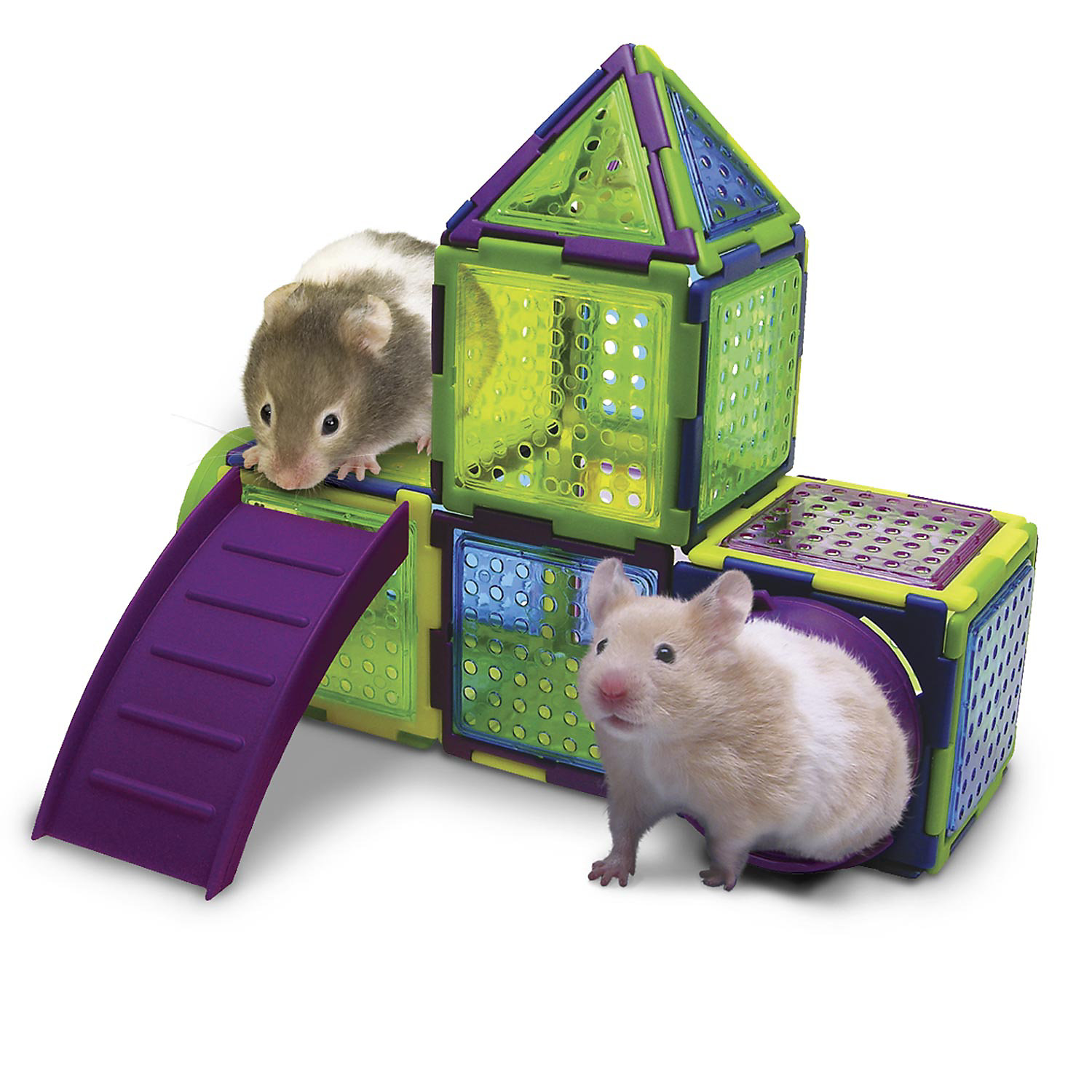 Kaytee Puzzle Playground Small Animal Jungle gym, 8.2 IN, Multi-Color