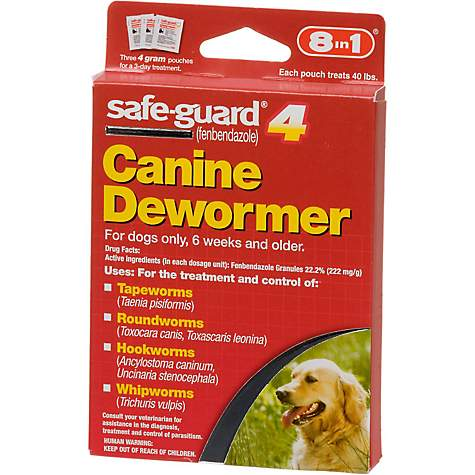 8 In 1 Safe Guard 4 Canine Dewormer Petco