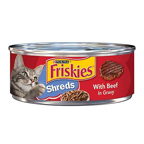 Friskies Shredded Beef Canned Cat Food in Gravy