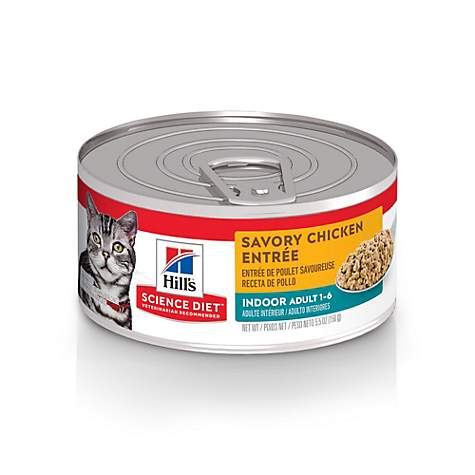 Hills Science Diet Adult Indoor Savory Chicken Entree Canned Cat Food