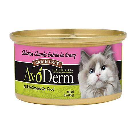 AvoDerm Natural Grain Free Chicken Chunks Entree in Gravy Canned Wet Cat Food