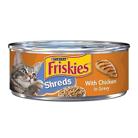Friskies Shredded Chicken Canned Cat Food in Gravy