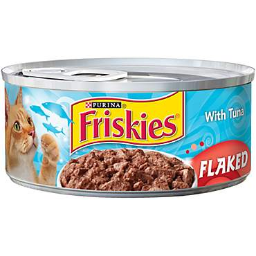 Friskies Flaked Tuna Canned Cat Food in Sauce