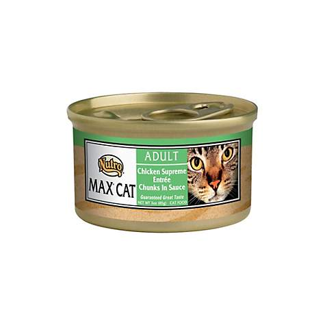 NUTRO MAX CAT Chicken Supreme Entree Chunks in Sauce Canned Adult Wet Cat Food