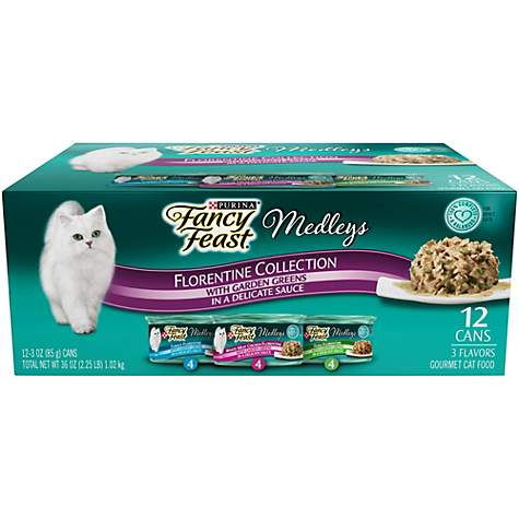 Purina Fancy Feast Medleys Florentine Collection Adult Wet Cat Food Variety Pack