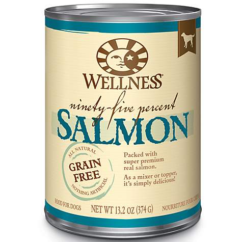Wellness Natural Grain Free 95-Percent Salmon Wet Dog Food