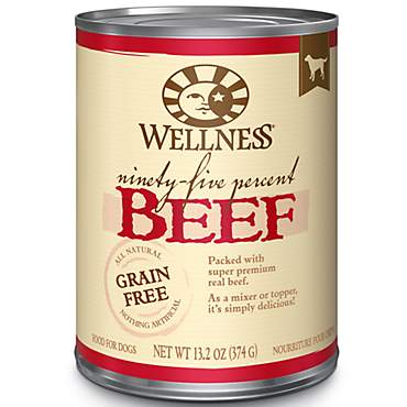Wellness Natural Grain Free 95-Percent Beef Recipe Wet Dog Food