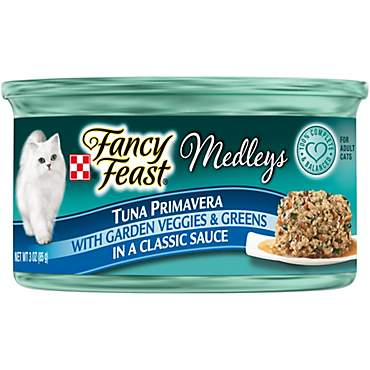 Fancy Feast Elegant Medleys Yellowfin Tuna Primavera Adult Canned Cat Food in Sauce