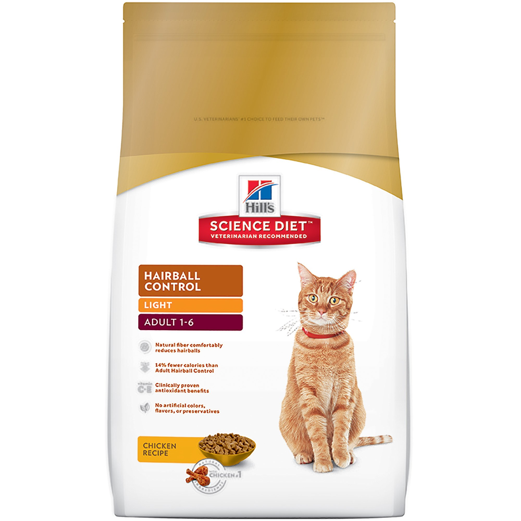 Hill S Science Diet Hairball Control Light Adult Cat Food