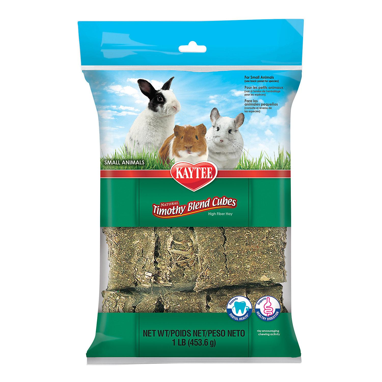 Kaytee Natural Timothy Hay Cubes For Rabbits Small Animals