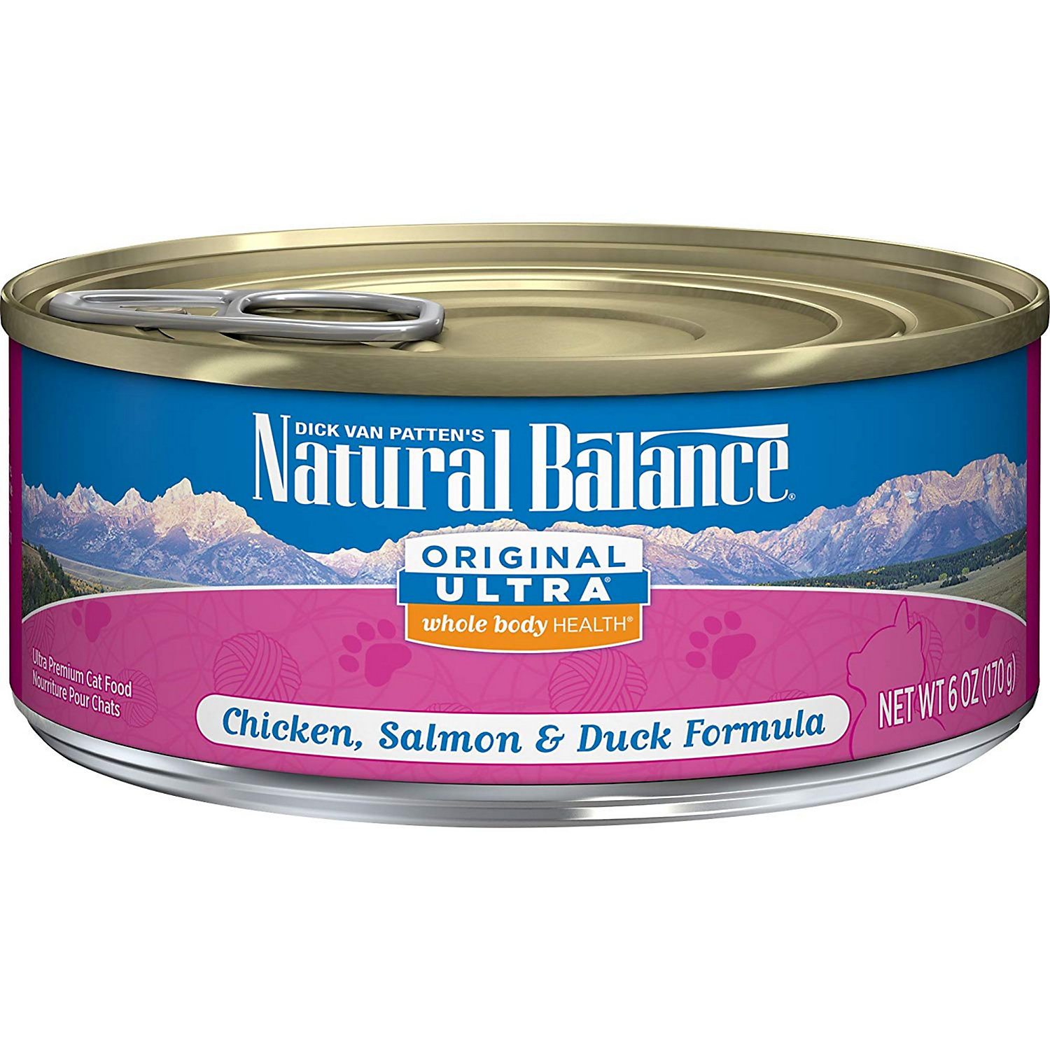 Natural Balance Ultra Premium Chicken Duck Liver Salmon Canned Cat Food Ultra Formula 6 Oz. Case Of 24