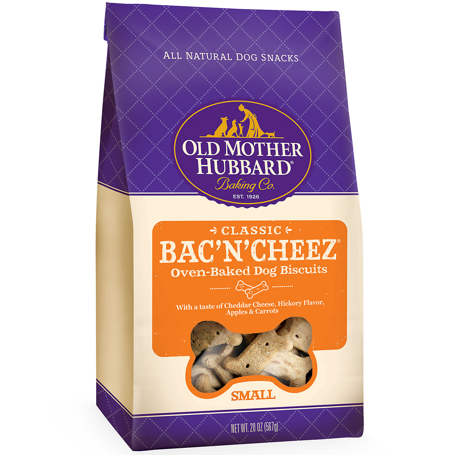 Old Mother Hubbard Crunchy Classic Natural Bacncheez Large Dog Biscuits 20 Oz Small