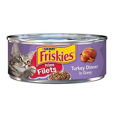 Purina Friskies Prime Filets Turkey Dinner in Gravy Cat Food