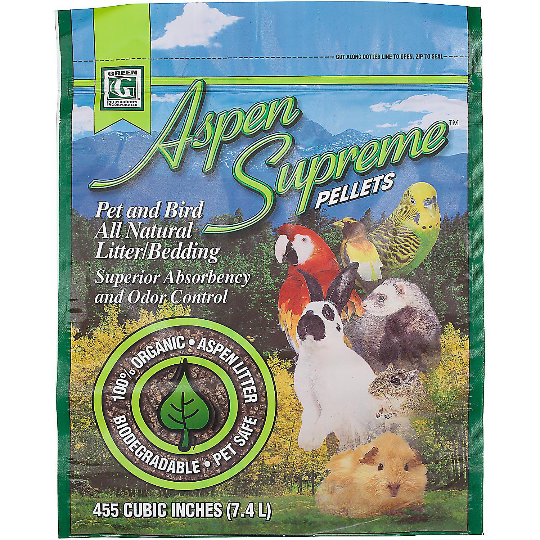 Green Pet Aspen Supreme Pellets Pet Bird All Natural Litter Bedding 7.4 Liters