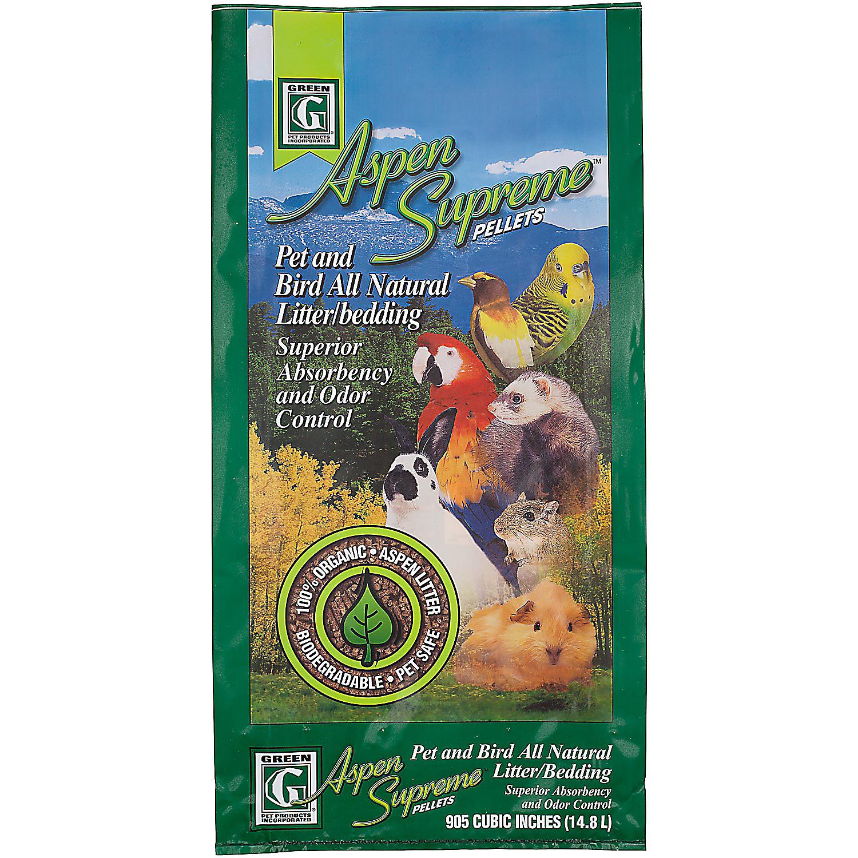Green Pet Aspen Supreme Pellets Pet Bird All Natural Litter Bedding 14.8 Liters