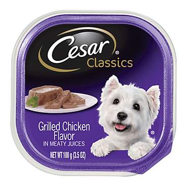 Cesar Canine Cuisine Grilled Chicken Flavor Dog Food Trays