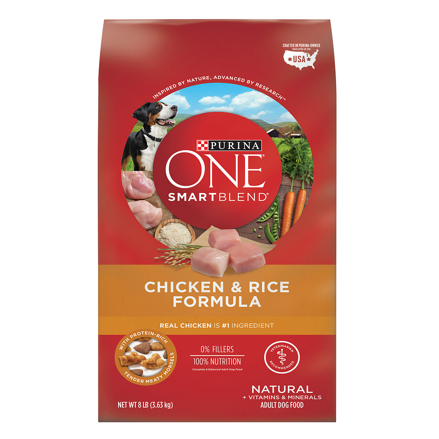 Purina One Smartblend Chicken Rice Formula Dog Food 8 Lbs.