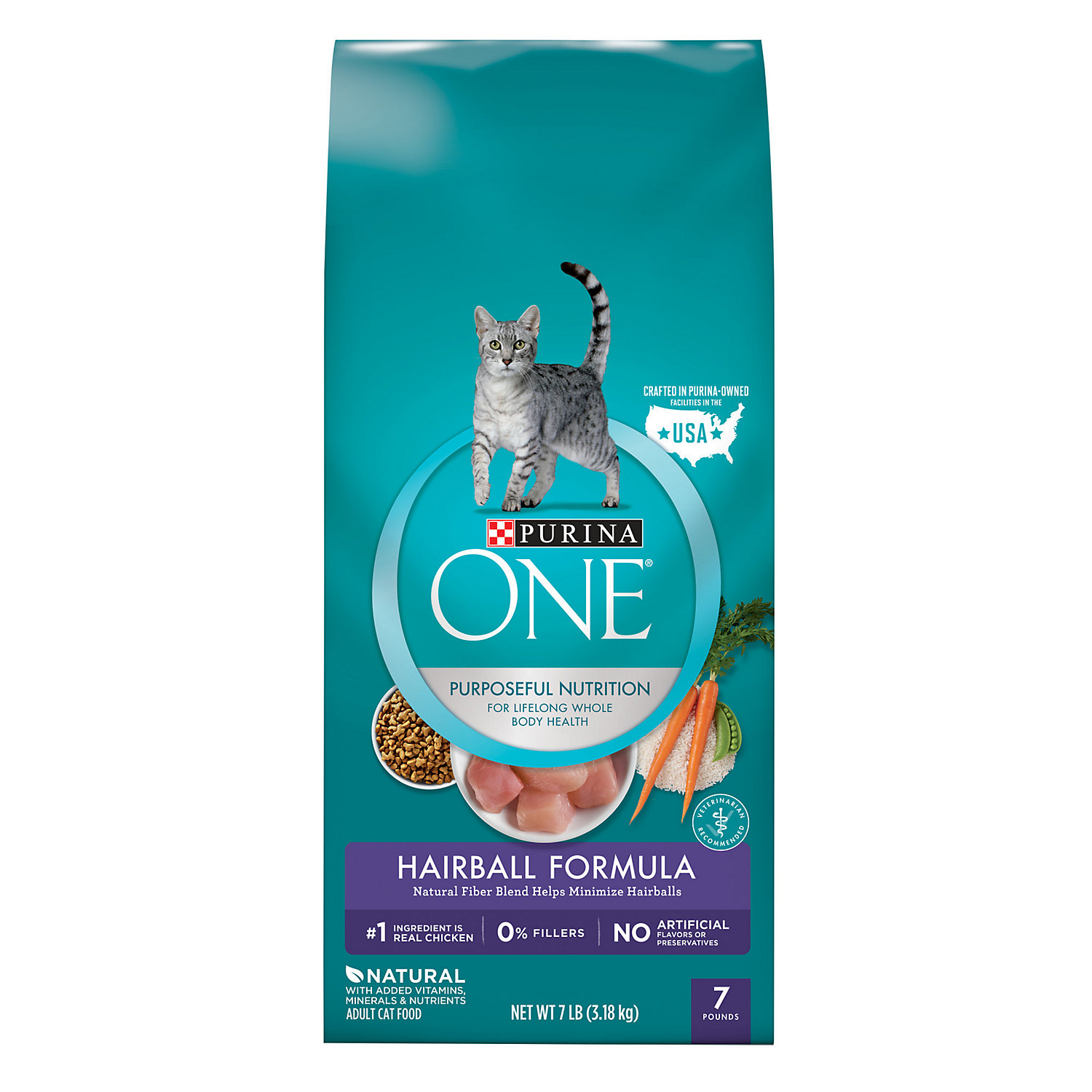 Purina One Special Care Advanced Nutrition Hairball Formula Cat Food 7 Lb.