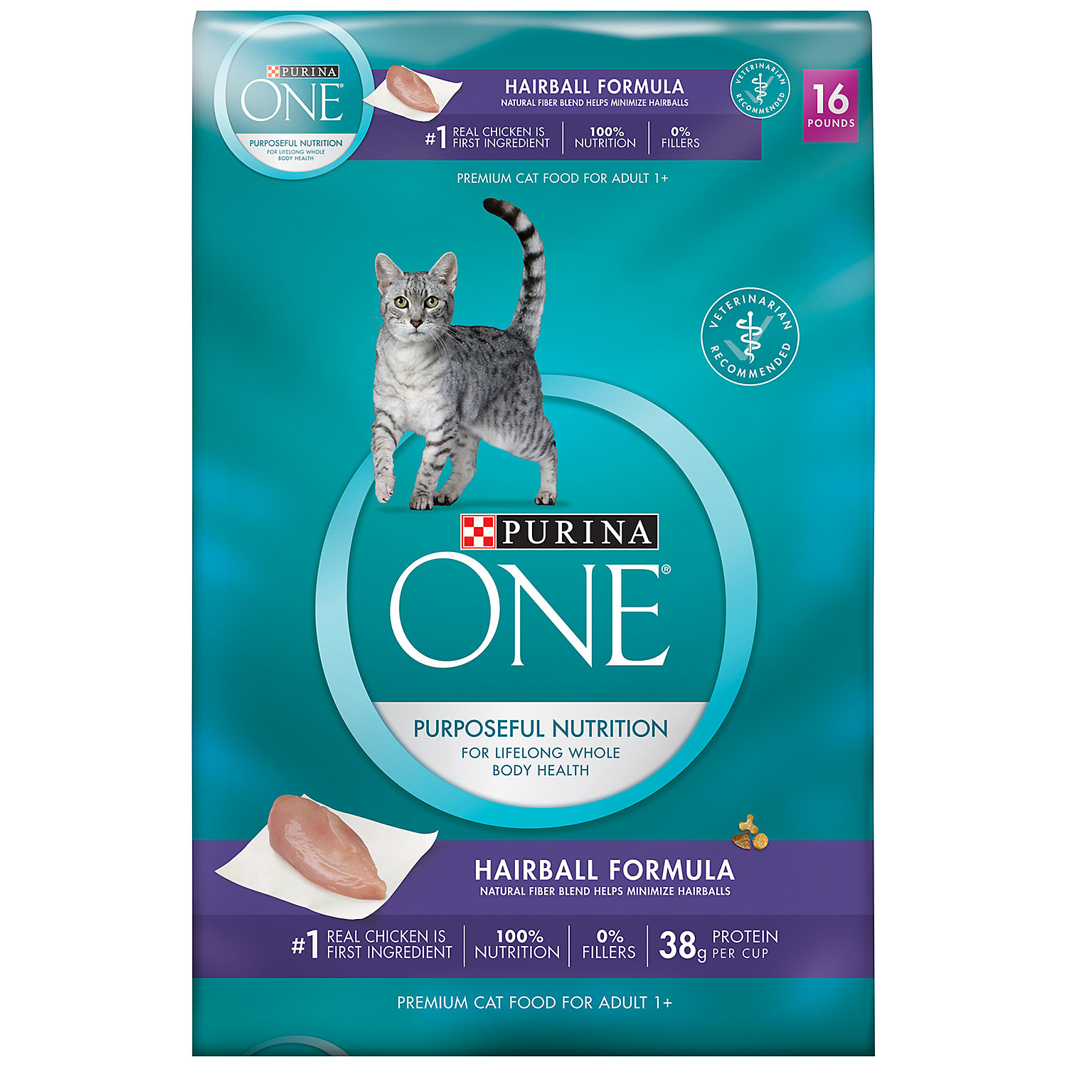Purina One Special Care Advanced Nutrition Hairball Formula Cat Food 16 Lb.