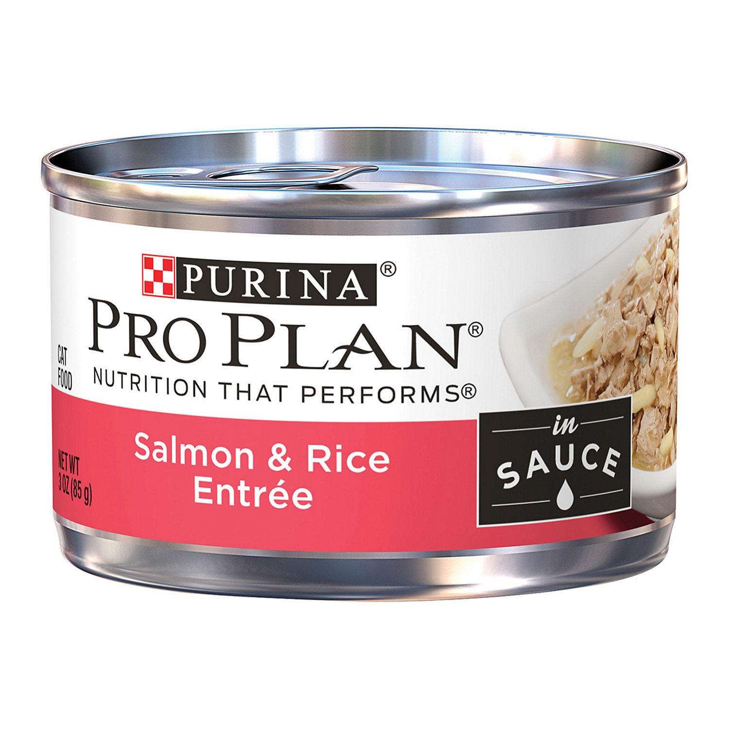 Purina Pro Plan Salmon Rice Entree In Sauce Cat Food 3 Oz. Can