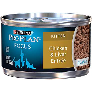 Pro Plan Focus Chicken & Liver Canned Kitten Food
